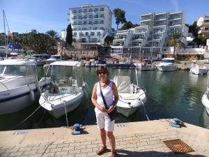October sunshine in Porto Cristo, Majorca.