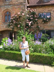 At the National Trust gardens, Sissinghurst, Kent.