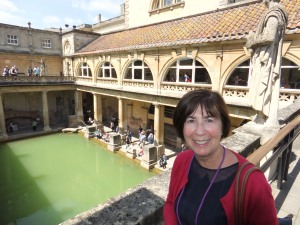 At the Roman Baths in Bath.