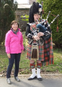 The piper at Inveraray