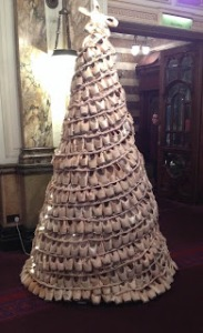 Pointe Shoe Christmas Tree at London Coliseum