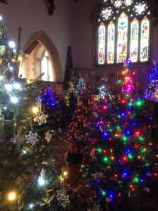 Christmas tree festival at Cuckfield Church
